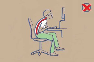 Helytelen ülés a számítógép előtt