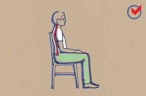 Helyes ülés támlás széken