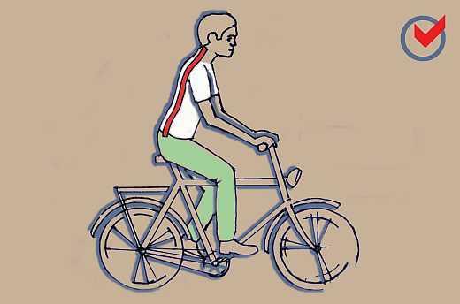 Gerinckímélet, kerékpározás
