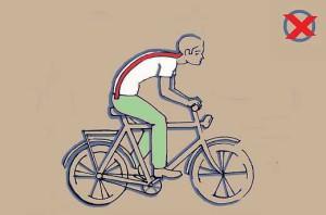 Helytelen biciklizés