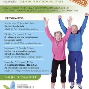 Folytatódik az Idősek Egészség Iskolája!