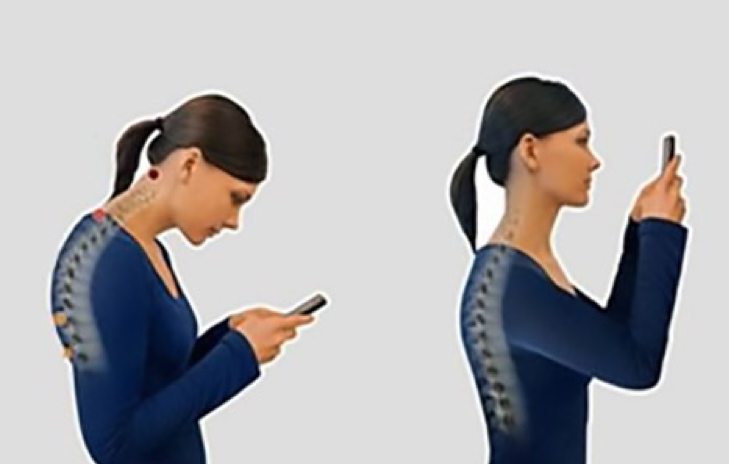 A mobiltelefon helytelen és helyes tartása